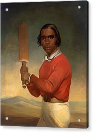 A Portrait Of Nannultera - A Young Poonindie Cricketer  Acrylic Print by Mountain Dreams
