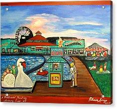 A Postcard Memory Acrylic Print by Patricia Arroyo