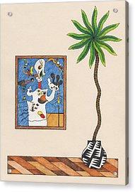 A Potato A Palm Tree Acrylic Print by Matt Leines