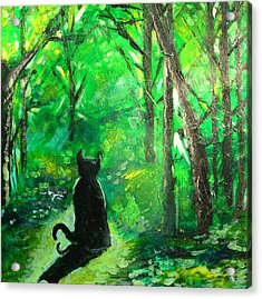 A Purrfect Day Acrylic Print by Seth Weaver