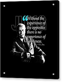 A Quote From Carl Gustav Jung Quote #27 Of 50 Available Acrylic Print by Garaga Designs