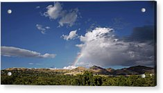 A Rainbow In Salt Lake City Acrylic Print by Rona Black