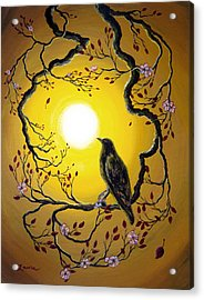 A Raven Remembers Spring Acrylic Print by Laura Iverson