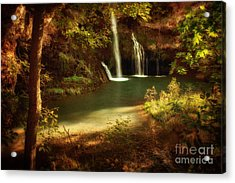 A Resting Place At Dripping Springs Acrylic Print by Tamyra Ayles