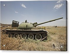 A Russian T-62 Main Battle Tank Rests Acrylic Print by Terry Moore