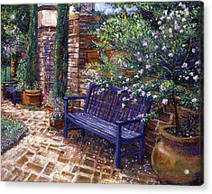 A Shady Resting Place Acrylic Print by David Lloyd Glover