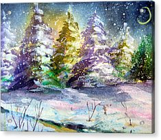 A Silent Night Acrylic Print by Mindy Newman