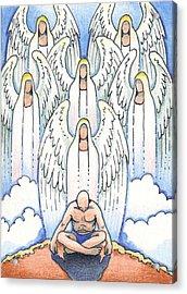 A Simple Prayer Acrylic Print by Amy S Turner