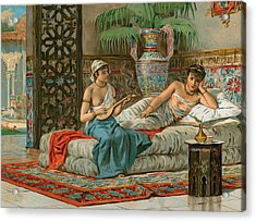 A Slave In The Harem Acrylic Print by Dionisio Baixeras-Verdaguer