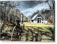 A Spring Time Story # 2 Acrylic Print by Mel Steinhauer