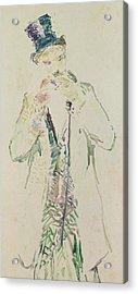 A Standing Gentleman Lighting His Cigar, 1885 Acrylic Print by Henri de Toulouse-Lautrec
