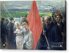 A Strike At Saint Ouen Acrylic Print by Paul Louis Delance