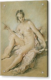 A Study Of Venus Acrylic Print by Francois Boucher