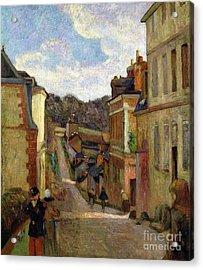 A Suburban Street Acrylic Print by Paul Gauguin