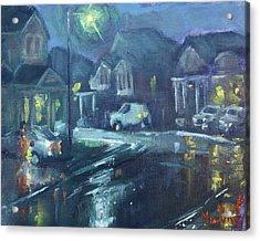 A Summer Rainy Night Acrylic Print by Ylli Haruni