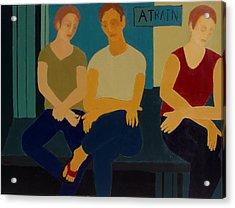 A Train Acrylic Print by Renee Kahn
