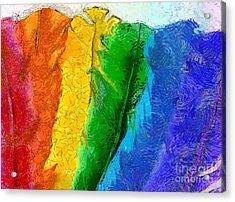 A Unique Rainbow Acrylic Print by Krissy Katsimbras