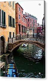 A Venetian Canal Acrylic Print by Michelle Sheppard