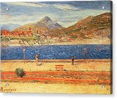 A View Across The Water Acrylic Print by Diario or Dario de Regoyos y Valdes