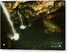 A View From Above The Falls Acrylic Print by Tamyra Ayles