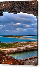 A View From Fort Jefferson Acrylic Print by Andres Leon