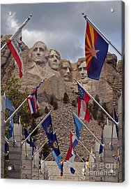 A View Of Mt. Rushmore Acrylic Print by Robert Pilkington