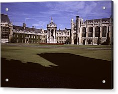 A View Of The Courtyard Of Trinity Acrylic Print by Taylor S. Kennedy