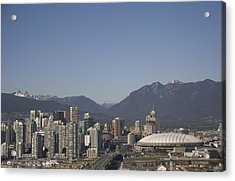 A View Of The Skyline Of Vancouver, Bc Acrylic Print by Taylor S. Kennedy