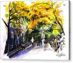A Walk Through The Park Acrylic Print by Liz Viztes
