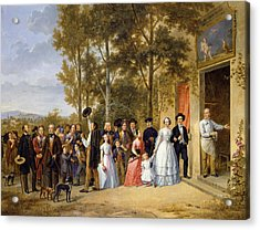 A Wedding At The Coeur Volant Acrylic Print by French School