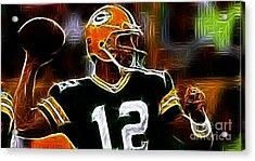 Aaron Rodgers - Green Bay Packers Acrylic Print by Paul Ward