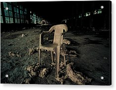 Abandoned Chair Acrylic Print by Luka Matijevec