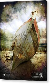 Abandoned Fishing Boat Acrylic Print by Meirion Matthias