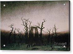 Abbey In The Oakwood Acrylic Print by Caspar David Friedrich