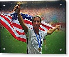 Abby Wambach Us Soccer Acrylic Print by Semih Yurdabak
