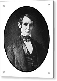 Abe Lincoln As A Young Man  Acrylic Print by War Is Hell Store