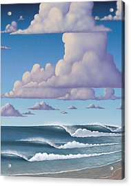 Abeautiful Day At The Beach Acrylic Print by Tim Foley