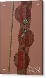 Aboriginal Lizard Acrylic Print by Kaaria Mucherera
