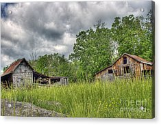 About To Storm Acrylic Print by Pete Hellmann