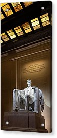 Abraham Lincoln Acrylic Print by Andrew Soundarajan