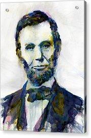 Abraham Lincoln Portrait Study 2 Acrylic Print by Hailey E Herrera