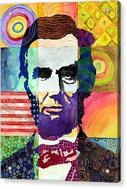 Abraham Lincoln Portrait Study Acrylic Print by Hailey E Herrera