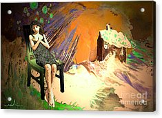Absent Love Acrylic Print by Miki De Goodaboom