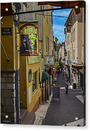 Absinthe In Antibes Acrylic Print by Allen Sheffield