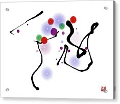 Abstract 1 Acrylic Print by GuoJun Pan