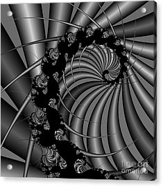 Abstract 112 Bw Acrylic Print by Rolf Bertram