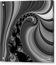 Abstract 121 Bw Acrylic Print by Rolf Bertram