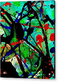 Abstract 40 Acrylic Print by John  Nolan
