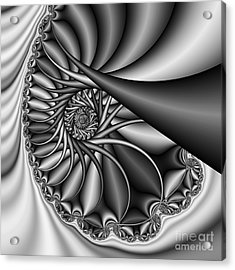 Abstract 530 Bw Acrylic Print by Rolf Bertram