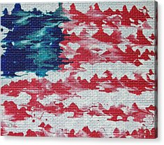 Abstract American Flag  Acrylic Print by Brian Roberts